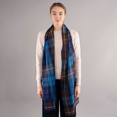 Buchanan blue extra fine merino scarf; Scottish Treasures Celtic Corner