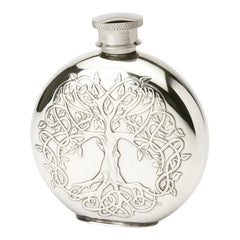 Tree of Life pewter flask