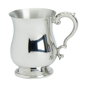 Georgian shaped tankard made from 100% lead free pewter.  Made in England.  Scottish Treasures Celtic Corner
