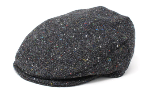 Harris Tweed Wool Patchwork Flat Cap