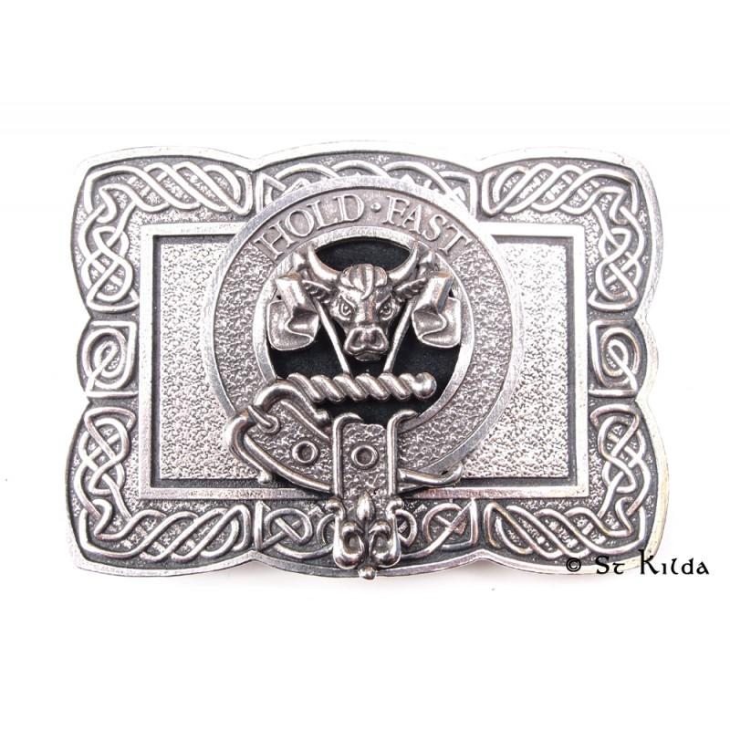 Clan Crest Buckle Ornate Rectangle A-L - Celtic Corner / Scottish Treasures