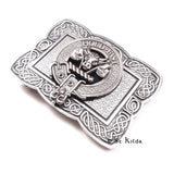 Clan Crest Buckle Ornate rectangle M-Z