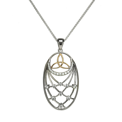 Trinity Pendant with Interlaced CZ