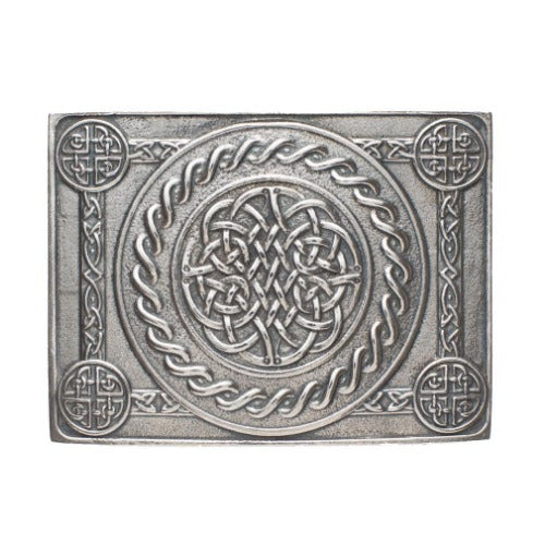 Celtic Knot 4 Dome Kilt Buckle - Celtic Corner / Scottish Treasures