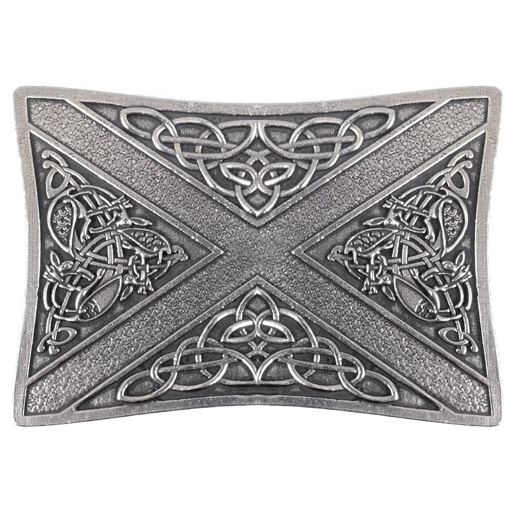 Celtic Saltire Kilt Buckle - Celtic Corner / Scottish Treasures