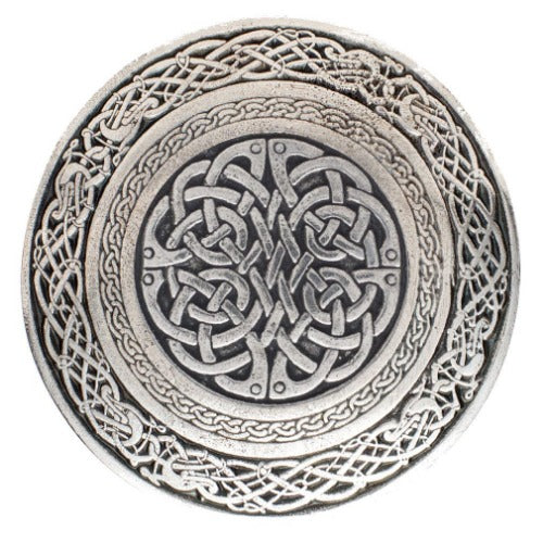 Celtic Knot Circular Kilt Buckle - Celtic Corner / Scottish Treasures
