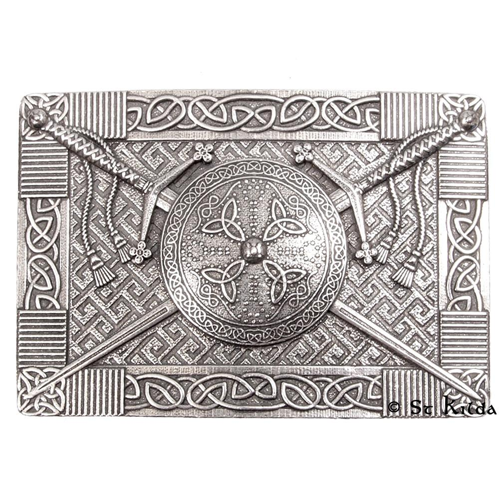 Claymore and Targe Kilt Buckle - Celtic Corner / Scottish Treasures