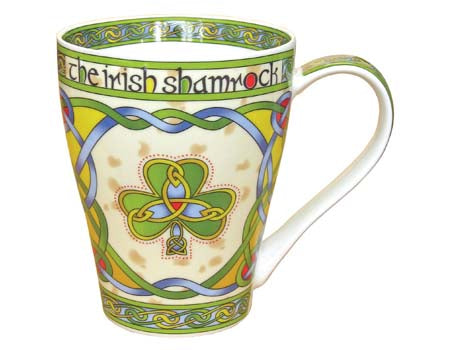 Shamrock bone china coffee mug.  Celtic Corner/Scottish Treasures
