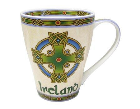 Ceramic mug with celtic cross design- Celtic Corner / Scottish Treasures