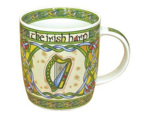 Irish Harp China Mug - Celtic Corner / Scottish Treasures