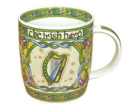 Irish Harp China Mug