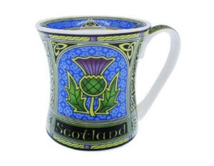 Thistle designed china mug