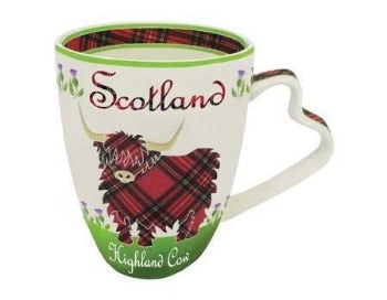 Highland Cow China Mug - Celtic Corner / Scottish Treasures