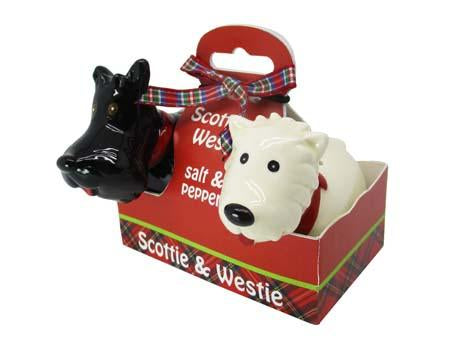 Scottie & Westie salt & pepper shaker