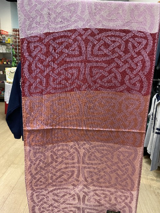 Celtic knots are on this shades of pink pashmina