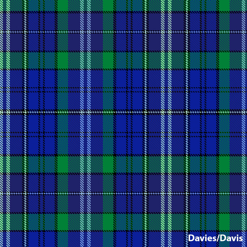 Davies/Davis Welsh tartan.  Scottish Treasures Celtic Corner