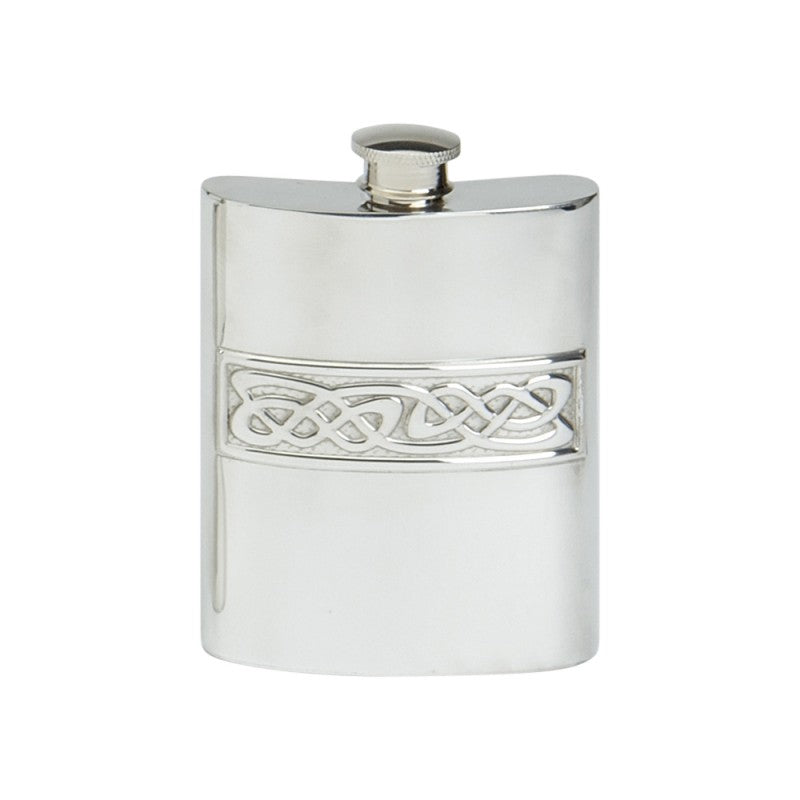 Celtic Rope 6 oz pewter flask.  Scottish Treasures Celtic Corner