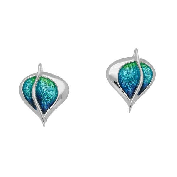 Leah Silver and Enamel Earrings - Celtic Corner / Scottish Treasures