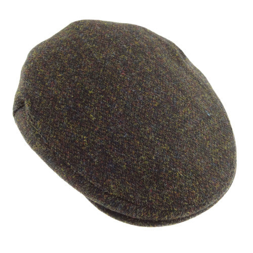 Brown Harris Tweed flat cap.  Scottish Treasures Celtic Corner