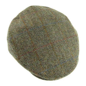 Harris Tweed Flat Cap (brown herrignbone)