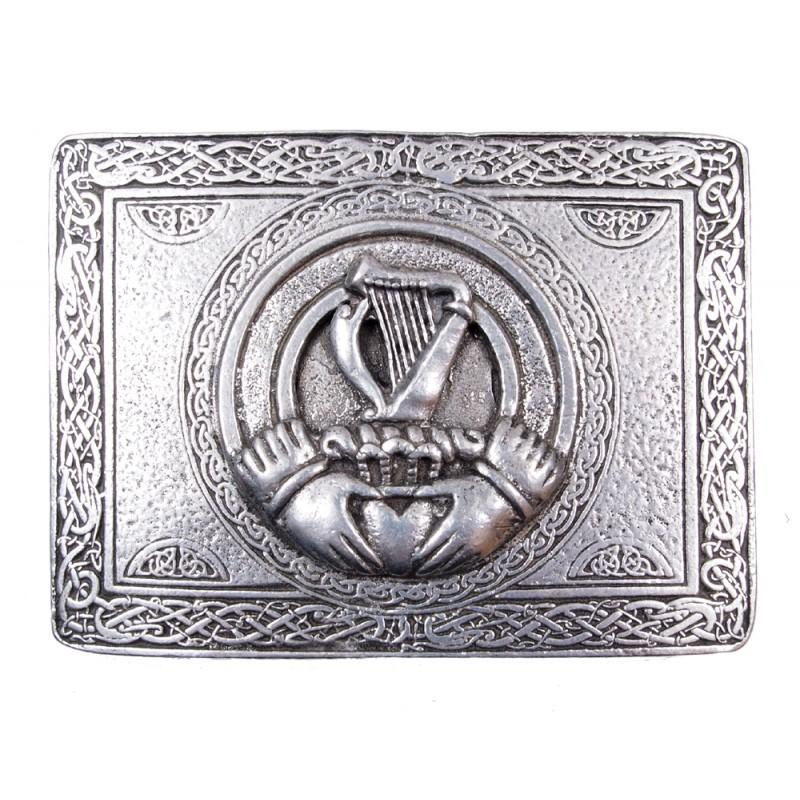 Irish Shamrock Kilt Buckle - Celtic Corner / Scottish Treasures