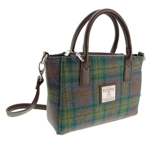 Small Harris Tweed tote in Isle of Skye tweed.  Two styles of strap.  Scottish Treasures Celtic Corner
