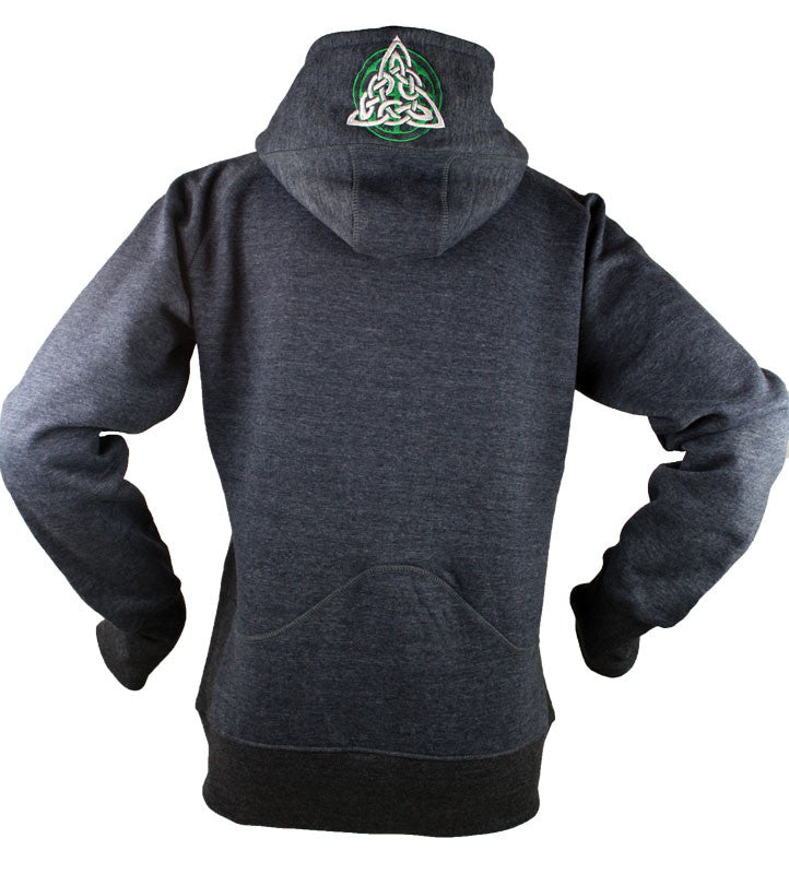 Ladies Heather Blue Trinity Knot Hoodie