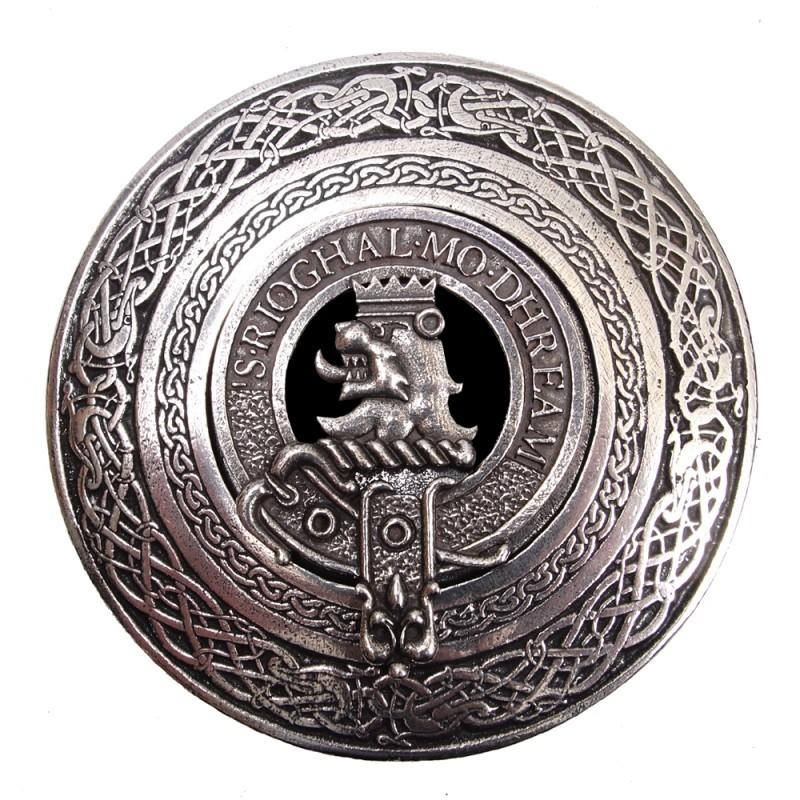 Clan Crest Buckle Circle A-L - Celtic Corner / Scottish Treasures