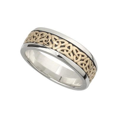 Trinity Knot 10K and Sterling Silver Band (Gents) - Celtic Corner / Scottish Treasures