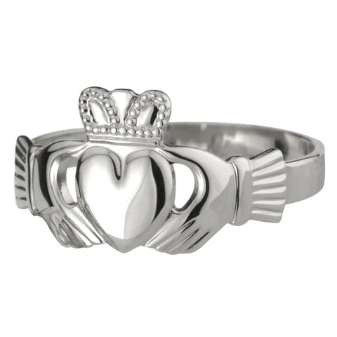 Ladies Puffed Claddagh Ring