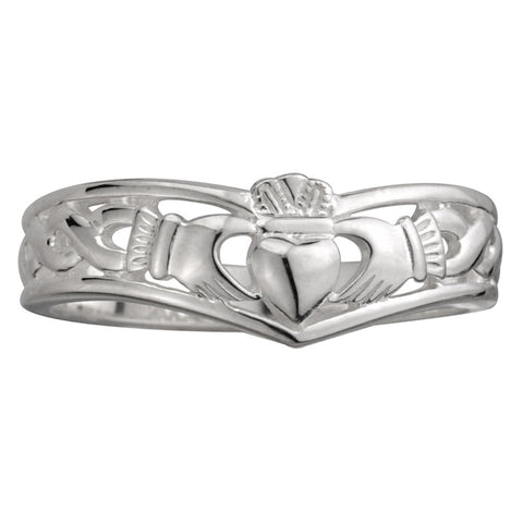 Claddagh Bracelet with CZ Stone