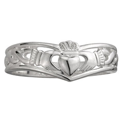 Claddagh Wishbone Ring