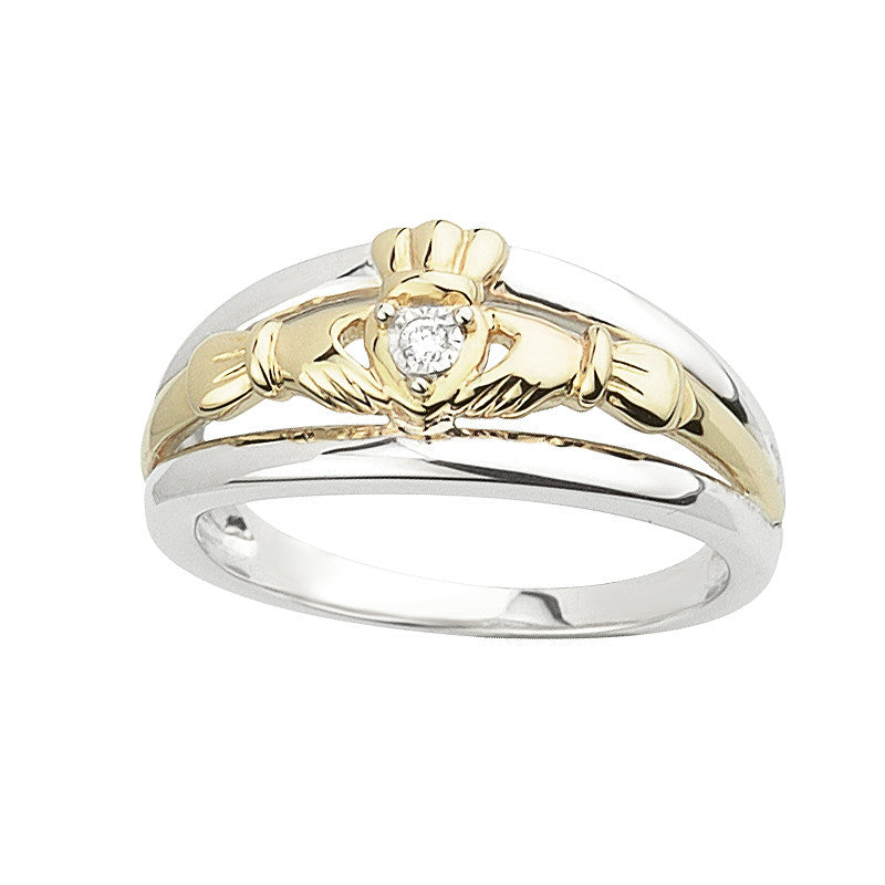 Claddagh Band (Silver and 10KGold)