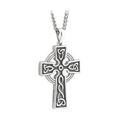 Double-sided Oxidised Celtic Cross - Celtic Corner / Scottish Treasures