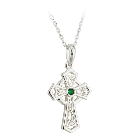 14K Diamond and Emerald Shamrock Pendant & Earrings