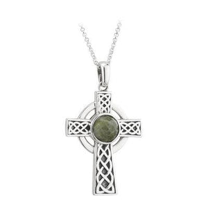 Connemara Marble Celtic Cross - Celtic Corner / Scottish Treasures