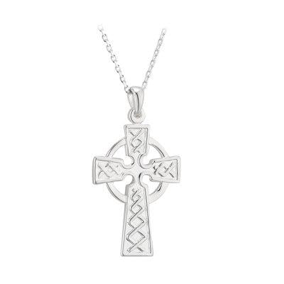 Celtic Cross with Emerald and CZ