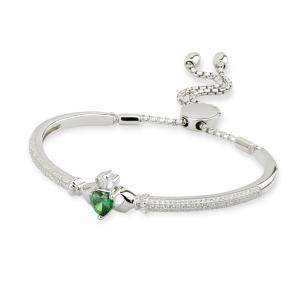 Claddagh bracelet with CZ