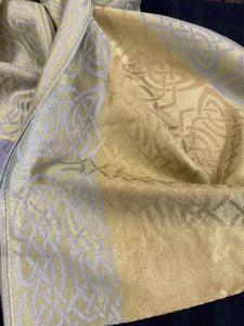 Close up of knotwork in Keeragh pashmina.  Scottish Treasures Celtic Corner
