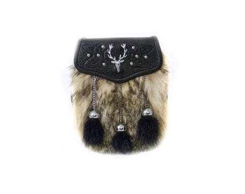 Stag and Badger Fur Semi-dress Sporran