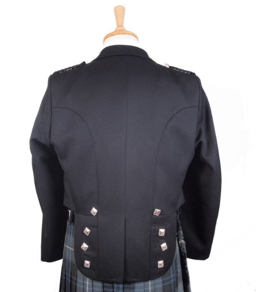 Back view of Prince Charlie Jacket and Vest.