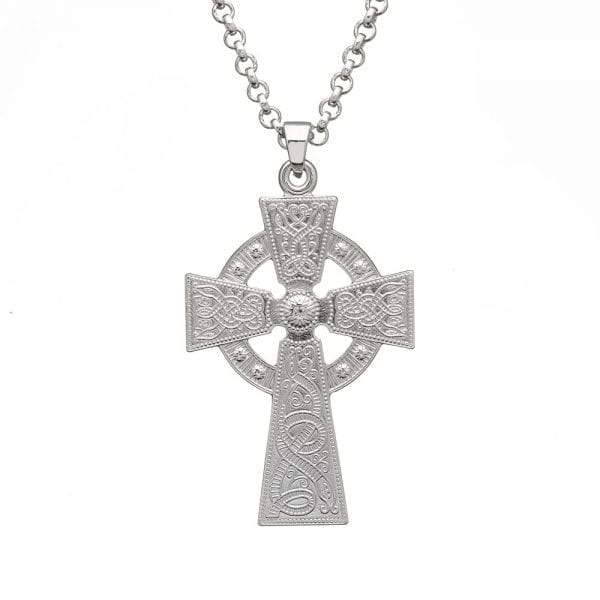 Celtic Warrior Large Silver Cross - Celtic Corner / Scottish Treasures