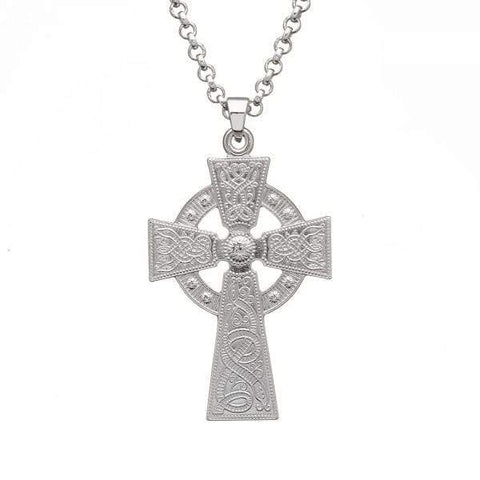 Celtic Warrior Large Silver Cross