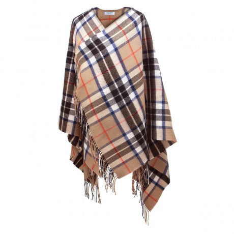 Camel Thomson serape in lambswool.  Shorter version of the traditional serape.  Scottish Treasures Celtic Corner