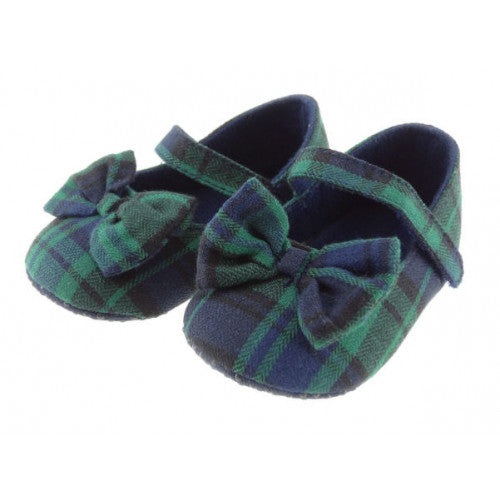 Baby Black Watch tartan shoe.  Soft sole.  Scottish Treasures/Celtic Corner