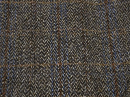 Harris Tweed Flat Cap (Brown Plaid)
