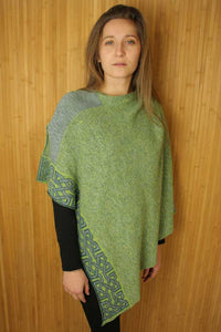 Cavan - shades of green, blue/grey are found in this poncho.  Great colors for the month of March when we celebrate St. Patrick's Day.  Cotton and linen and hand made in Scotland.  Scottish Treasures Celtic Corner