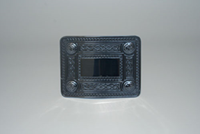 Celtic knot kilt buckle, black matt finish