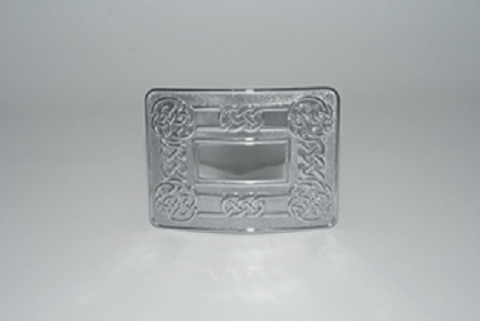 Clan Crest Buckle Ornate Rectangle A-L
