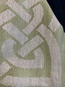 Dalkey scarf with close up of celtic knots.